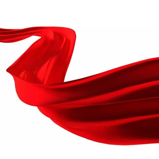 飘扬的红色绸缎面丝绸红旗装饰7673908png图片素材