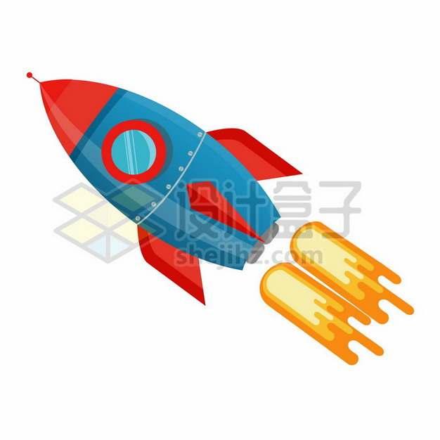 起飞的卡通火箭png图片素材701050