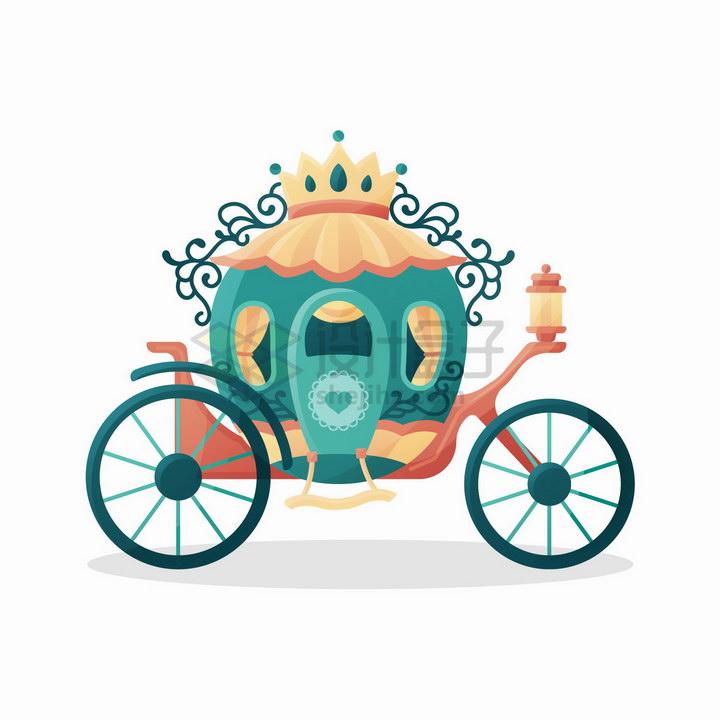 华丽的童话中的马车png图片免抠矢量素材