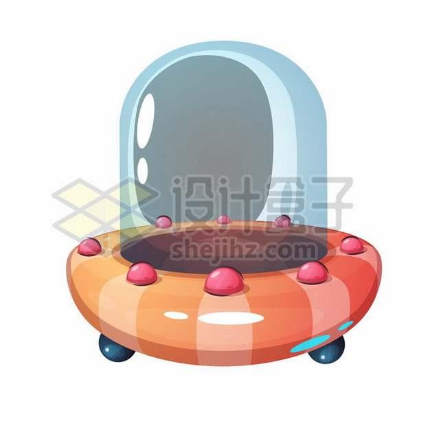 可爱的卡通飞碟UFO不明飞行物png图片素材475258