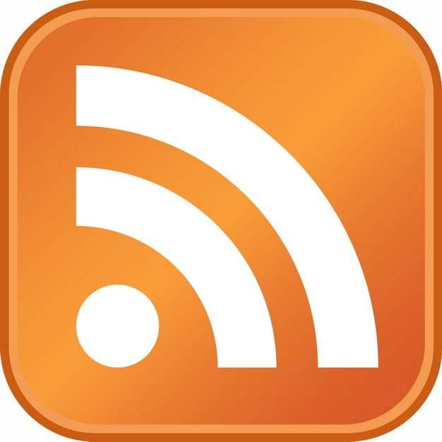 免费wifi标志橙色圆角图标png图片素材545781