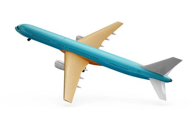 飞行中的蓝色涂装波音787/777飞机大型客机png免抠图片素材