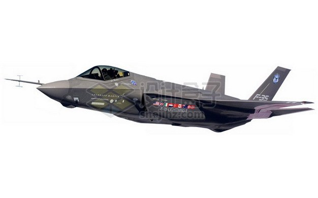 黑色涂装的F35肥电战斗机766329png免抠图片素材 军事科幻-第1张