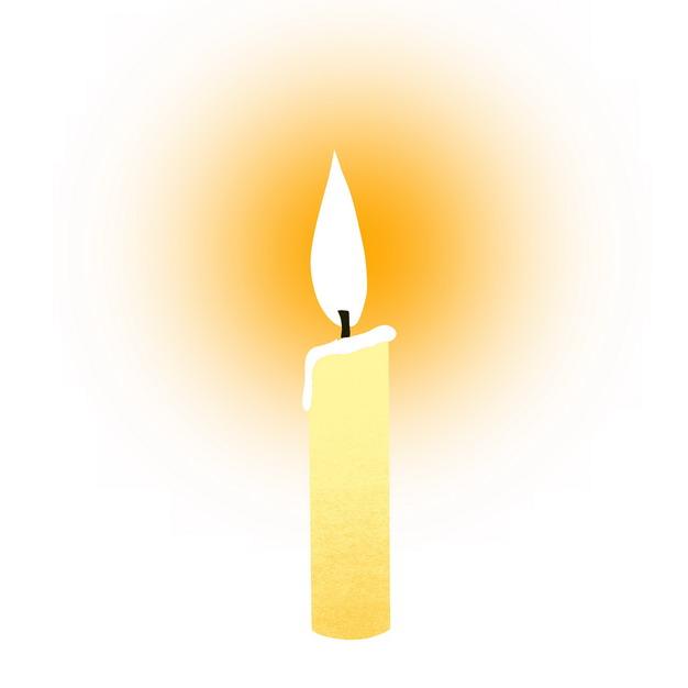 一根米黄色的蜡烛2705918png图片素材 生活素材-第1张