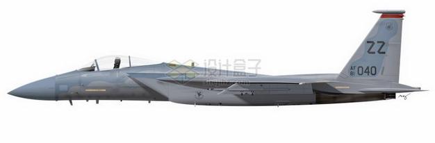 美国海军F18大黄蜂战斗机侧视图png免抠图片素材 军事科幻-第1张