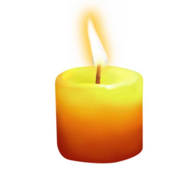 燃烧着的黄色红色蜡烛1581485png图片素材