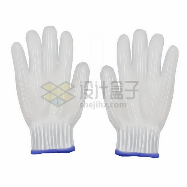 白色劳保手套白色棉手套工作手套743823png免抠图片素材 生活素材-第1张