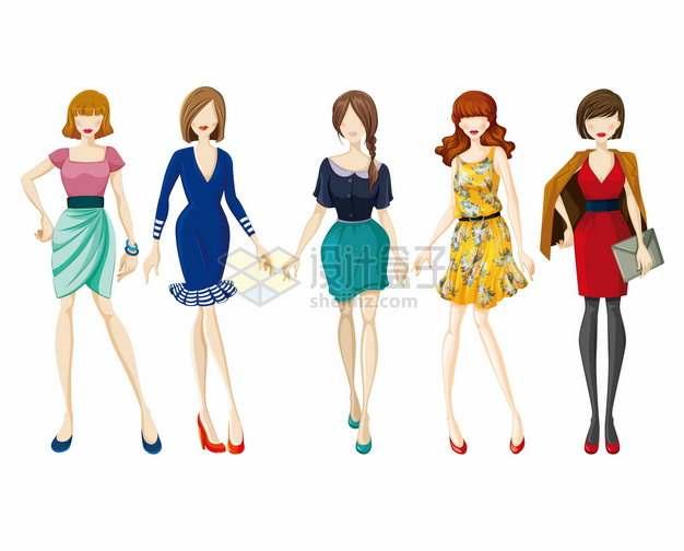 5款时髦的模特美女929883png图片素材