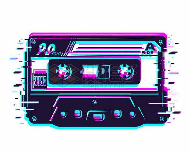 抖音故障风音乐磁带163229png图片素材