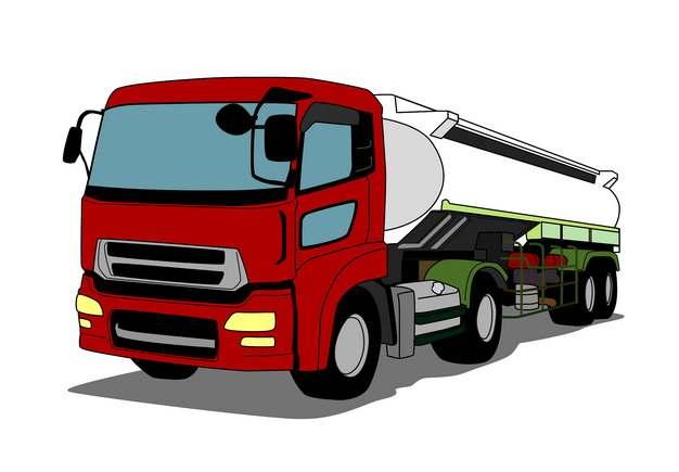彩绘槽罐车油罐车危险品运输卡车特种运输车529504png图片素材