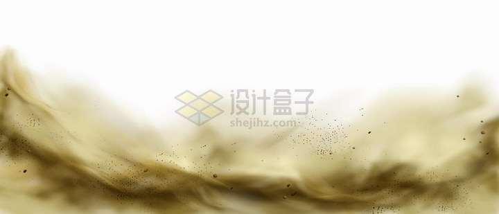 黄褐色的沙尘暴尘土云雾霾大雾等空气污染png图片免抠矢量素材