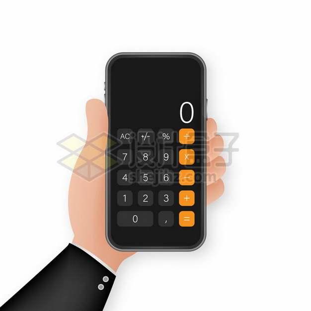 一只手拿着计算器259695png图片素材