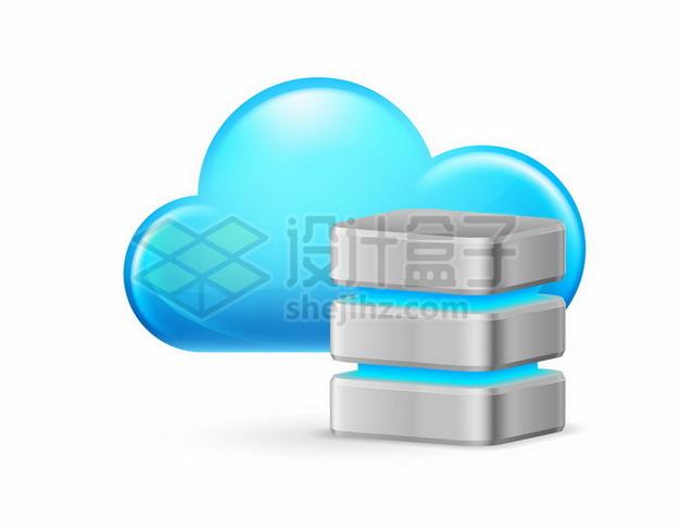 蓝色云计算技术和云服务器457009 png图片素材 IT科技-第1张