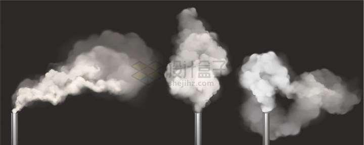发出浓烟的三块烟雾棒png图片免抠矢量素材