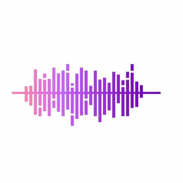 紫色声波音频线条178466png图片AI矢量图素材