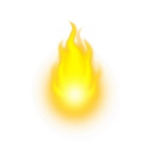 黄色的火苗火焰效果2321749png图片素材 效果元素-第1张