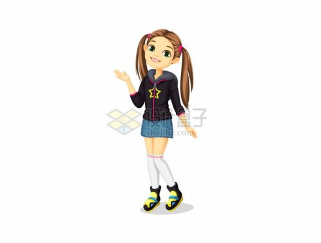 双马尾卡通女孩314469png图片素材