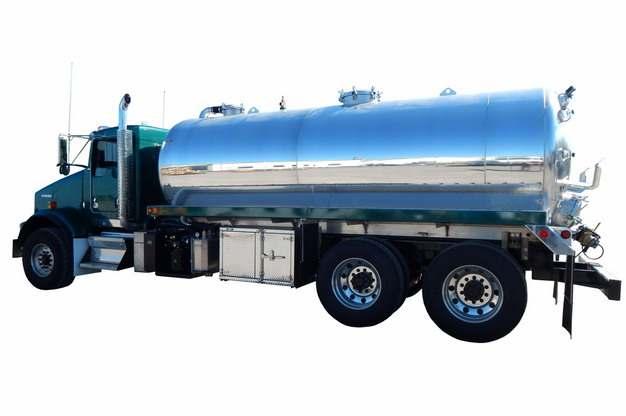 槽罐车油罐车危险品运输卡车特种运输车侧视图971491png图片素材