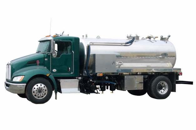 绿色槽罐车油罐车危险品运输卡车特种运输车152660png图片素材
