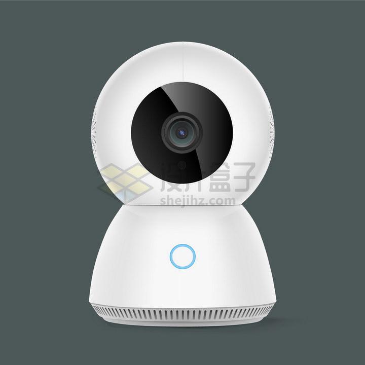 白色的家用无线智能摄像机云台摄像头png图片免抠矢量素材
