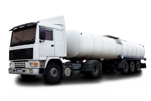 白色槽罐车油罐车危险品运输卡车特种运输车600906png图片素材