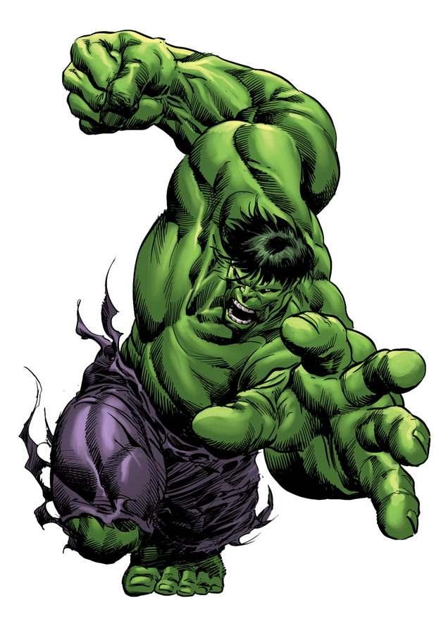漫画中愤怒的绿巨人无敌浩克76723png免抠图片素材
