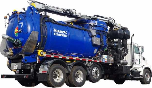 蓝色自卸功能槽罐车油罐车危险品运输卡车特种运输车179482png图片素材