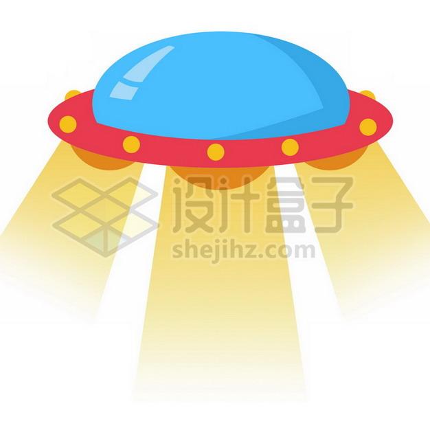 扁平化风格卡通飞碟UFO不明飞行物png图片素材966203 军事科幻-第1张