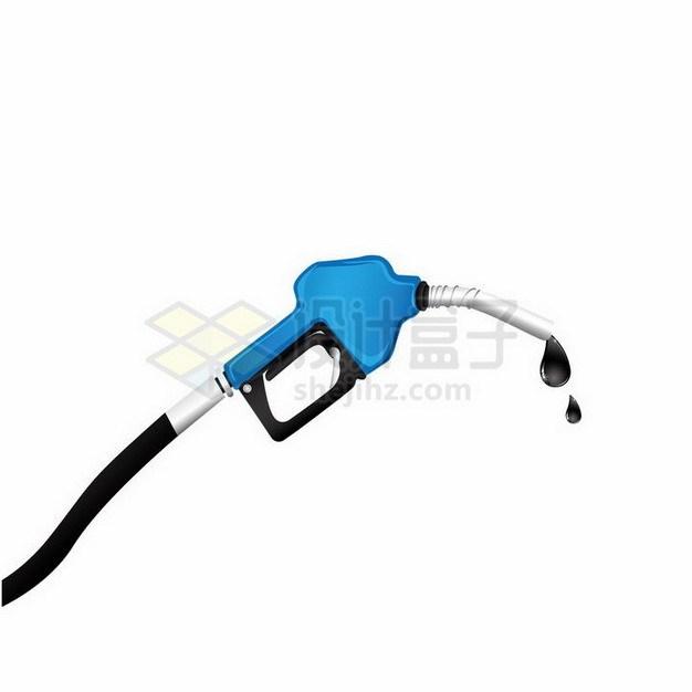 蓝色加油站加油枪中冒出了汽油油滴png图片免抠矢量素材 工业农业-第1张