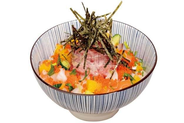 什锦刺身丼饭日式料理png图片素材