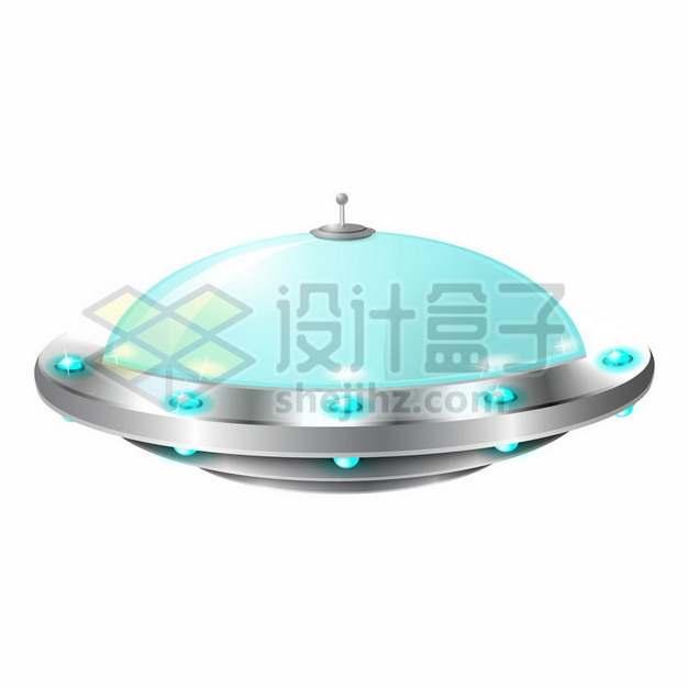 可爱的卡通飞碟UFO不明飞行物png图片素材831586