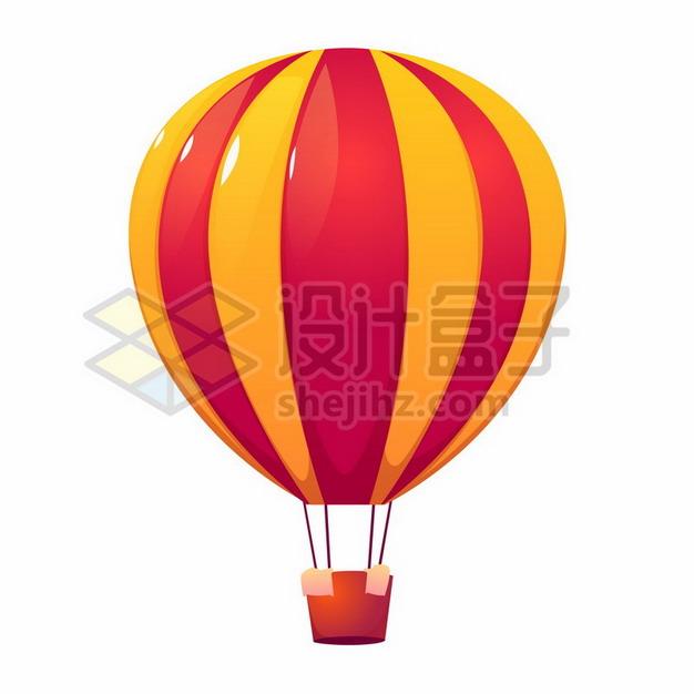 红色黄色条纹热气球png图片素材264289 漂浮元素-第1张