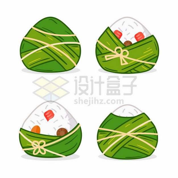 端午节4款可爱的卡通粽子412672png图片素材