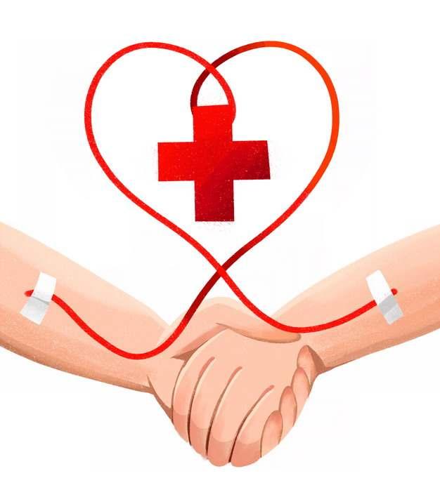 牵手的双手和无偿献血png图片素材