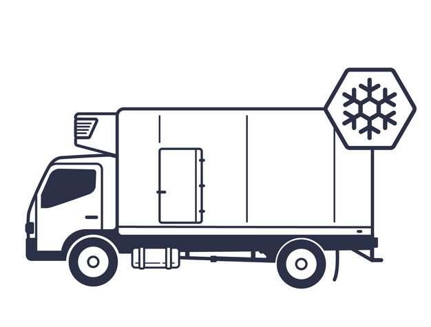 线条冷藏车440834png图片素材