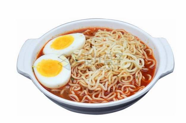 加了一个煮鸡蛋的四川担担面美味面条png免抠图片素材