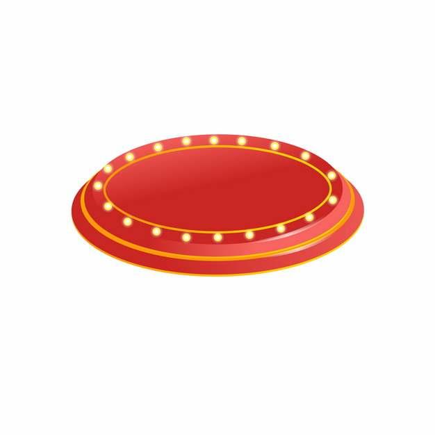 电商产品商品圆形红色底座展台950196png图片AI矢量图素材
