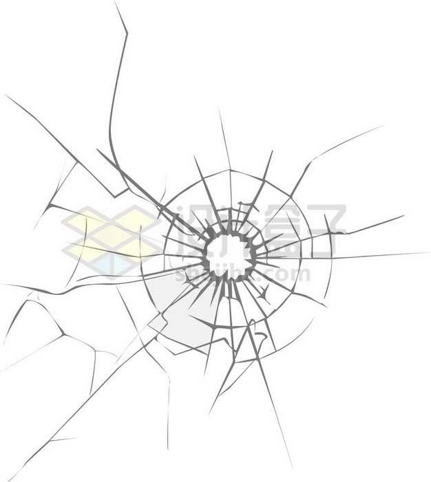 简约线条玻璃破碎裂纹裂缝659389png图片素材