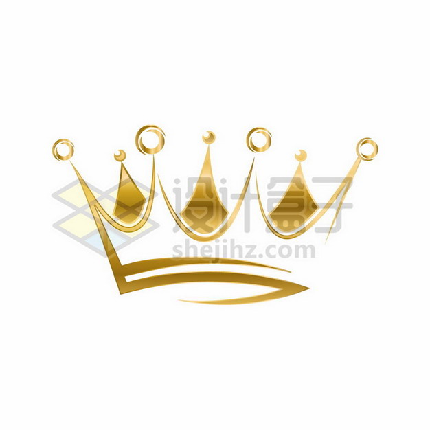 金色皇冠图案png图片素材760440 装饰素材-第1张