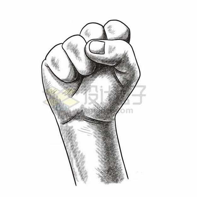 手绘涂鸦风格拳头397632png免抠图片素材