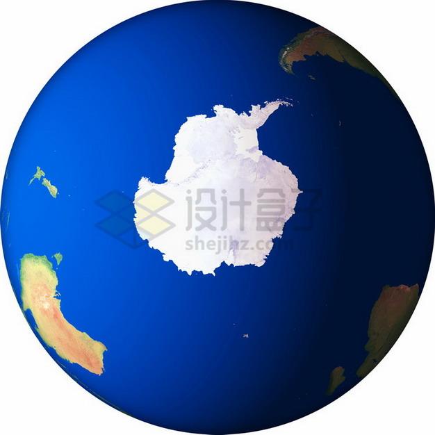 高清地球定位在南极大陆png免抠图片素材 科学地理-第1张
