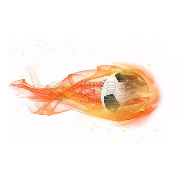 燃烧着火焰的足球特效果3428784png图片素材