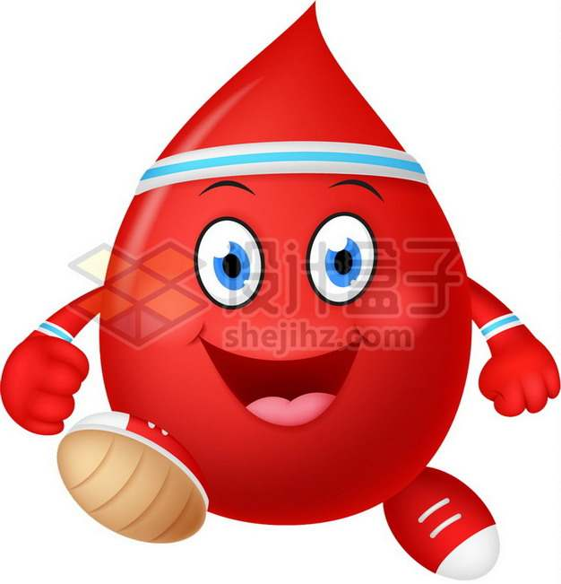 超可爱的卡通液滴血液png图片素材
