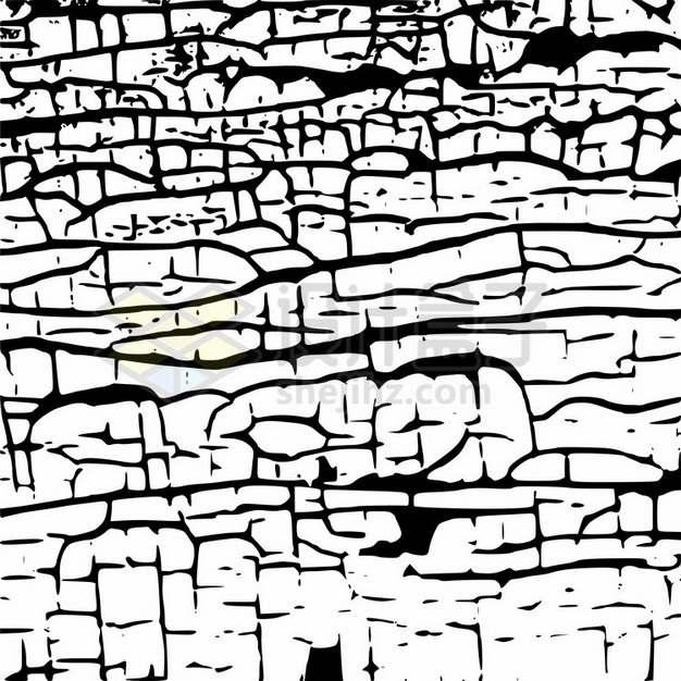 干裂龟裂的土地黑色裂纹裂缝图案545621png图片素材