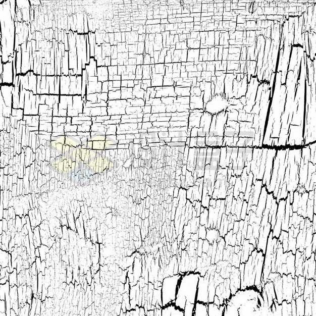 干裂龟裂的土地黑色裂纹裂缝图案436124png图片素材