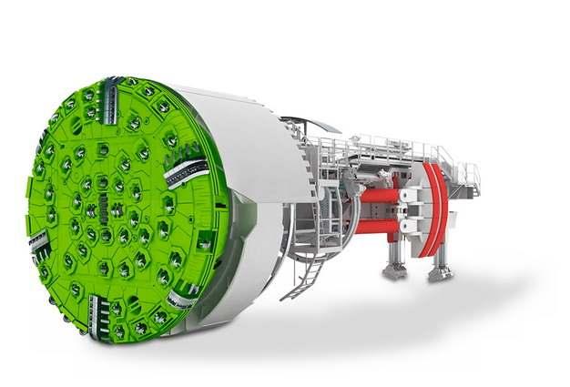 3D立体挖掘隧道的盾构机结构图653284png图片素材