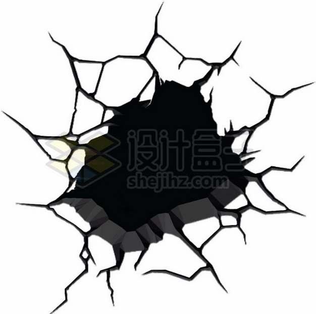 黑色墙壁干裂龟裂的土地黑色裂纹裂缝图案375382png图片素材