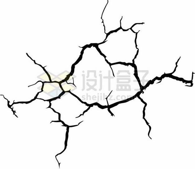 黑色墙壁干裂龟裂的土地黑色裂纹裂缝图案432987png图片素材