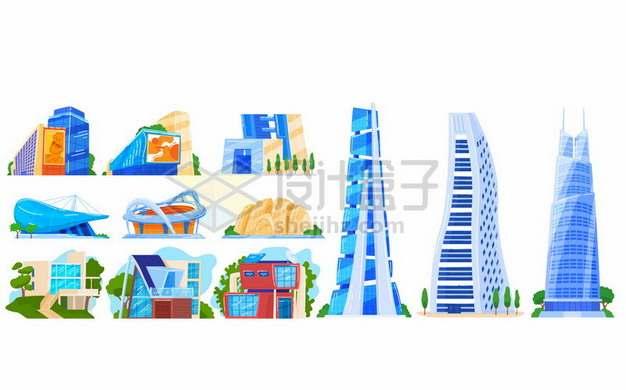 各种卡通城市高楼大厦建筑347220 png图片素材