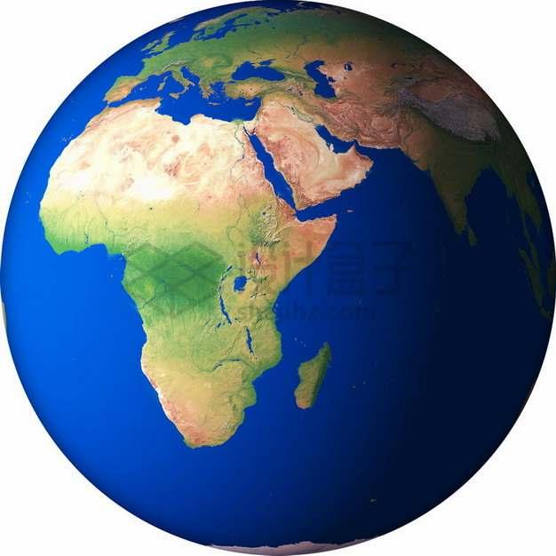 高清地球定位在非洲大陆和印度洋png免抠图片素材